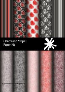 Hearts and Stripes Paper Kit