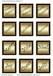 Christmas Square Embellishments / Captions Set 1