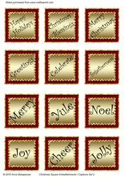 Christmas Square Embellishments / Captions Set 2