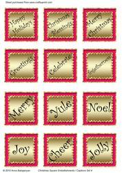 Christmas Square Embellishments / Captions Set 4