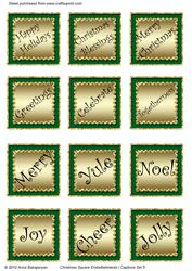 Christmas Square Embellishments / Captions Set 5