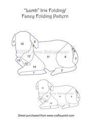 Lamb Iris Folding / Fancy Folding Pattern