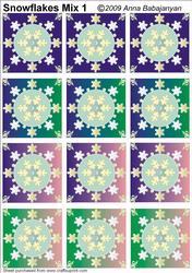 Snowflakes Mix 1