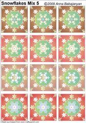 Snowflakes Mix 5