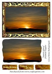 Sunset Glory Framed Topper