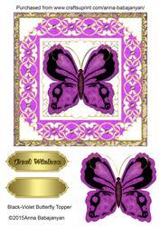Black-violet Butterfly Topper