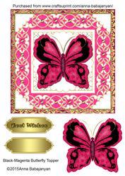 Black-magenta Butterfly Topper