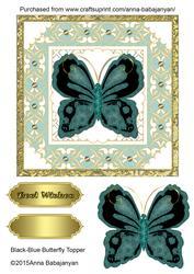 Black-blue Butterfly Topper