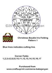 Christmas Bauble Iris Folding Pattern 1