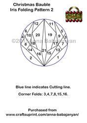 Christmas Bauble Iris Folding Pattern 2