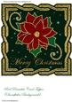 Red Poinsettia Card Topper (snowflakes Background)