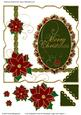 Oval Scalloped Frame & Poinsettias Large Card Topper 1