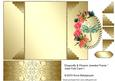 "Dragonfly & Flowers Jeweled Frame"" Gate Fold Card 1"