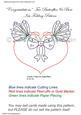 Congratulations Two Butterflies & Bow Iris Folding Pattern