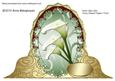 Three Calla Lilies Fancy Shaped Topper/ Front