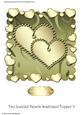 Two Jeweled Hearts Scalloped Topper 3