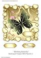 Birthday Butterfly Scalloped Topper with Hearts 11