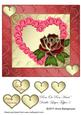 Rose on Rose Heart Double-layer Topper 5