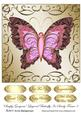 Simply Gorgeous Layered Butterfly in Swirly Frame 3