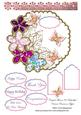 Crystal Flowers & Butterflies Various Occasions Topper