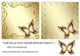 2 Metallic Note Papers with Butterfly 1