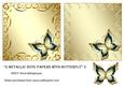 2 Metallic Note Papers with Butterfly 5