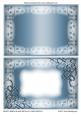 Frosty Swirls Blank Metallic Card Fronts 6