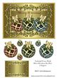 Embossed Frame with Three Christmas Baubles 2 Toppers