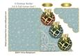 3 Christmas Baubles Cut & Fold Corner Card 1