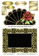 Fan with Rose & Embossed Blank Frame 2