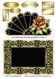 Fan with Rose & Embossed Blank Frame 5