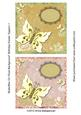 Butterflies on Floral Background Birthday/ Easter Toppers