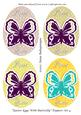 Easter Eggs with Butterfly Toppers Set 4