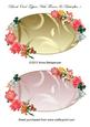 Blank Oval Toppers with Flowers & Butterflies 1