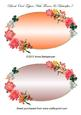 Blank Oval Toppers with Flowers & Butterflies 7