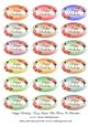 """View """"Happy Birthday"""" Fancy Labels With Flowers & Butterflies Details"""