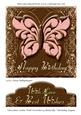 Chocolate Cookie with Strawberry Butterfly Birthday Topper