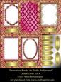 Decorative Border on Trellis Background Blank Cards Kit 8