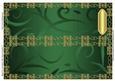 Blank Dl Card Base with Swirls & Border 5