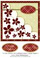 12 Cute Flowers on Scalloped Layers Large Topper 1