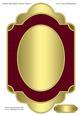 Shaped Gold Glitter Blank Topper 7