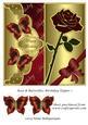 Rose & Butterflies Birthday Topper 1