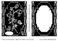 Vine & Butterflies Black & White Card Front