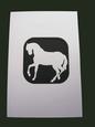 A5 Horse Aperture Card - Studio
