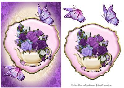 Rose Teapot & Butterflies
