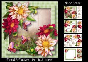 Floral & Flutters - Dahlia Blooms