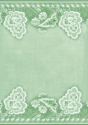 mint green grunge floral wallpaper border a4 backing paper