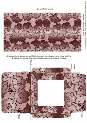 Dusky Pink Metallic Floral Midi Card and Envelope Sheet