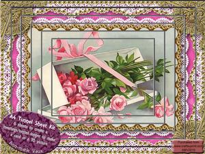 Flower Box Lace Card Topper A4 Tunnel Kit