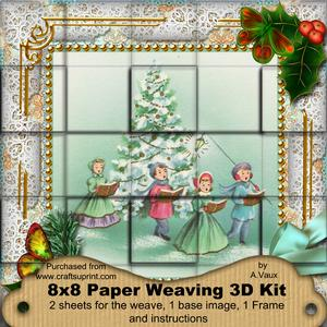 Carol Singers Holly 3D Paper Weaving Kit